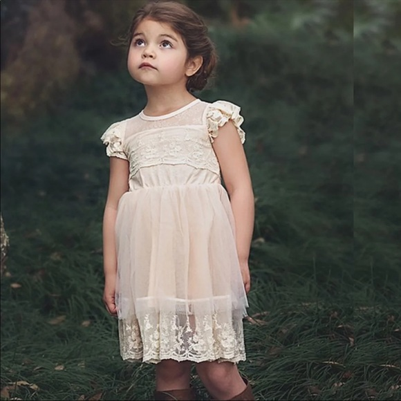 Trish Scully Leilani Lace Flower Girl Dress